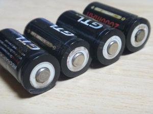 訳あり:高容 CR123A 3.6V 2000mAh Li-ion 充電池 4本セット