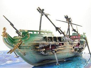 水槽 アクアリウム オブジェ 模型 置き物 (戦艦) a