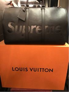Louis Vuitton×Supreme keepall45 BK ボストン  ...