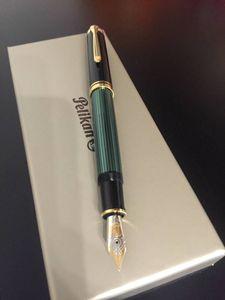 ペリカン 万年筆 スーベレーン M800 緑縞 F(細字)