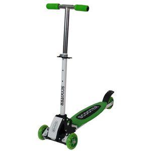 子供用 3輪 キックボード・スクーター 緑 1235