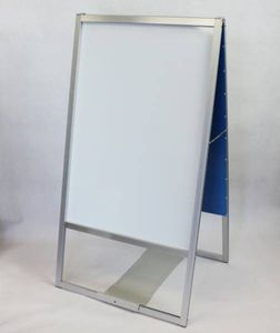 新品・訳あり●転倒防止板付A型看板120サイズ 両面ホワイトボード ガタツキあり ...