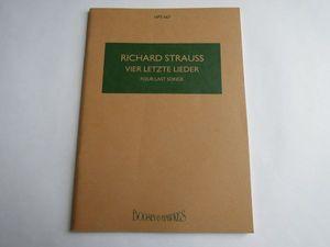 スコア リヒャルト・シュトラウス 4つの最後の歌 /z2