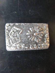 加賀「菊花」角切銀 量目約3.3g 江戸時代 銀貨 豆板銀 丁